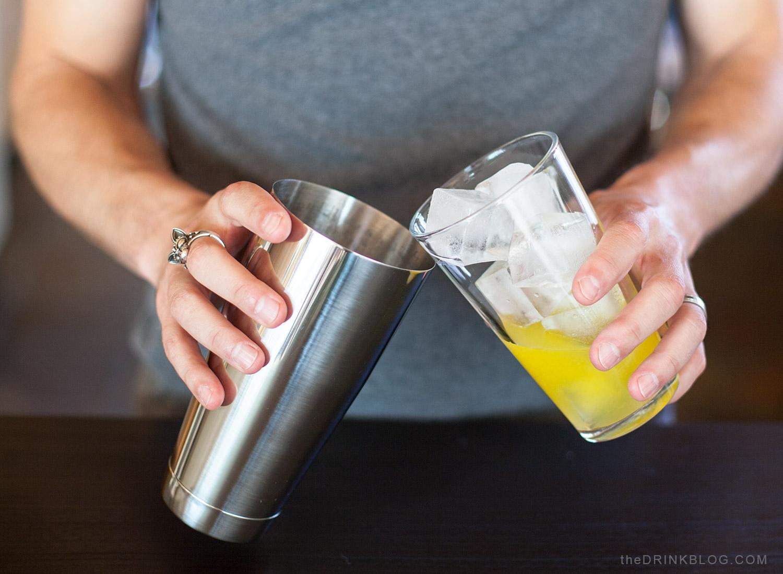 add ice to boston shaker